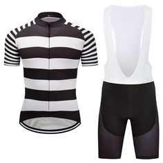 New Mens Unique Bike Racing Cycling Jersey Pad Bib Shorts Kits Shirt Team  Stripe  Rainsports 4a3719069