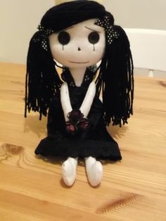 "Handmade Goth,Punk ,Emo 11""Gothic/Cloth Rag ,Doll/Misery Rag Doll,Valentines day"