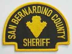 San Bernardino county Sheriff Calif patch