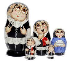 NESTING Doll Jewish DENTIST