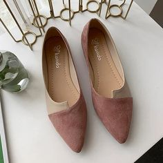 Womail Women Splice Color Flats Fashion Pointed Toe Ballerina Ballet Flat Slip On Shoes sapato feminino zapatos mujer 2019 Look Office, Loafers For Women, Shoes Women, Ladies Loafers, Ladies Shoes, Women Sandals, Girls Shoes, Gladiator Shoes, Gladiators