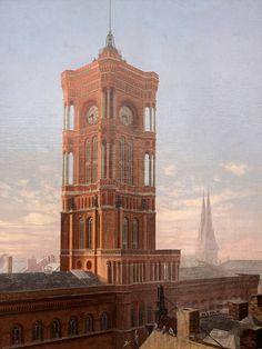Turm des Roten Rathauses, Gemälde, Bastanier, Hanns, 1937