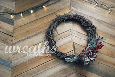 Christmas wreaths literally made in minutes! Do it yourself this Christmas