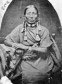Daughter of Chief Mad Bear - Assiniboine - circa 1880 - by ... - b&w version.