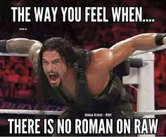 The way I feel when there is no Roman on any WWE show I am watching! Or you MISSED him :-( Wrestling Memes, Wrestling Superstars, Wwe Funny, Roman Regins, The Shield Wwe, Wwe Roman Reigns, Wwe World, Bae, The Way I Feel