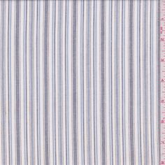White/Black Stripe Shirting - 33003 - | Discount By The Yard | Fashion Fabrics