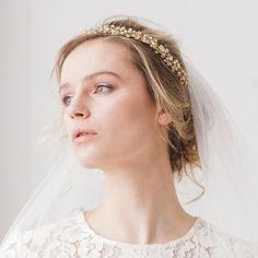 *New* Crystal hair vine in gold - 'Maisie'