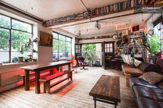 Rustic/eclectic loft in Hoxton, London.