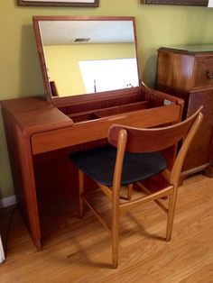 Mid Century Danish Teak Vanity. It just needs a style change, then it would be perfect!