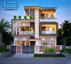 New house front elevation facades ideas House Outside Design, House Front Design, Small House Design, Modern Exterior House Designs, Modern House Facades, Modern House Design, 3 Storey House Design, Bungalow House Design, Home Modern