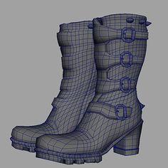Maya Model: Buckle Boots/Wire