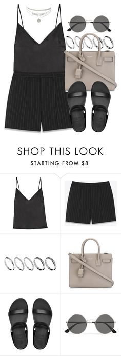 """""""Sin título #12490"""" by vany-alvarado ❤ liked on Polyvore featuring Protagonist, Yves Saint Laurent, ASOS and FitFlop"""