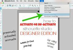 Activating (or Re-Activating) Silhouette Studio Designer Edition ~ Silhouette School