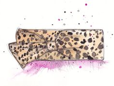 Hey, I found this really awesome Etsy listing at https://www.etsy.com/listing/126335637/the-leopard-louboutin-clutch-art-print