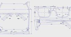 Hasil gambar untuk glasses technical drawings