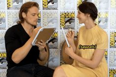 """Caitriona was excited to begin. 