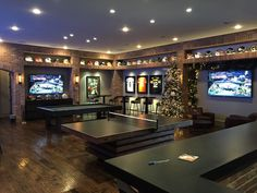Man cave Home bar Sports bar Man room OSU Oklahoma State University Sitting i. Man cave Home bar S Man Cave Designs, Bar Designs, Game Room Basement, Man Cave Basement, Man Cave Garage, Basement Ideas, Basement Sports Bar, Basement Bathroom, Basement Plans