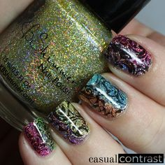 KBShimmer Water Slide Decals Nail Art • Casual Contrast