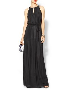 Shoshanna Joyce Maxi Dress with a boat neckline and front keyhole. Would be beautiful for an evening wedding.