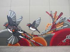 Bonsai in Melbourne, detail (I) Murals Street Art, Graffiti Wall Art, Mural Wall Art, Mural Painting, Street Art Graffiti, Street Wall Art, Best Street Art, Amazing Street Art, Street Art Melbourne