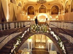 wedding staircase and ceremony space