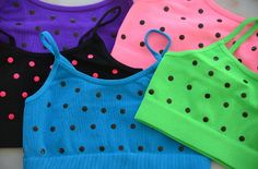 So cute for Dance or First Training Bra / Camisole for Girls : Kids Polka Dot Bandeau Cami Top by Kurve. Adorable with matching shorts for Dancers, Gymnastics or Cheerleading. From www.dance-extras.com