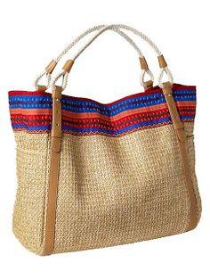 Totes & Bags| Serafini Amelia| Glam  Casual Chic-Straw Bag
