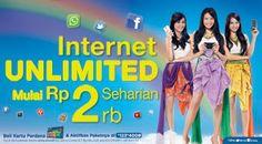 XL Internet Unlimited, Internetan sepuasnya Mulai Rp 2.000 #PINdonesia