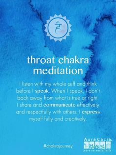 Aura Cacia Essential Oils - Throat Chakra meditation