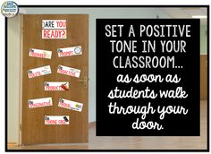 Set a positive tone in your classroom with 12 mini-posters meant to be posted on the inside of your classroom door. ($)