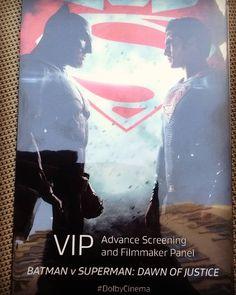 twotrey23:  Agenda tonight #Dolby @dolbylabs special @BatmanVSuperman screening event. Thanks @greatwhite70 for the invite. #BatmanvSuperman #Batman #Superman #DawnOfJustice #BatmanVSupermanDawnOfJustice #WonderWoman #BenAffleck @benaffleck #HenryCavill #GalGadot #AmyAdams #LaurenceFishburne #JesseEisenberg #DianeLane #HollyHunter #ZackSnyder #DC #DCComics #comics #comicbooks #superhero #superheroes #JusticeLeague #film #cinema #movies #movie #films (at Vine Theatre)