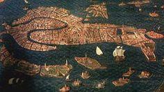 La ciudad de Venecia. Egnazio Danti. 1580-1583. En Galleria delle Carte Geografiche, Museos Vaticanos.