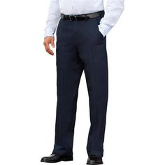 George Men's Flat-Front Wrinkle-Resistant Pants