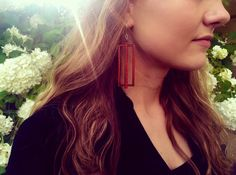 Laser cut wood earrings DesignsByAntonia etsy