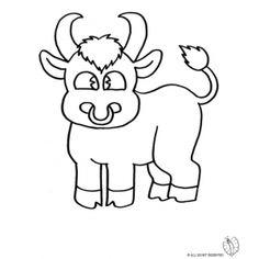 Disegno di Piccolo Toro da colorare