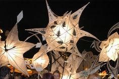 Paper Lanterns, for Burning the Clocks, 21 December (the winter solstice) Brighton Brighton And Hove, Brighton England, Tissue Paper Lanterns, Light Fest, Lantern Image, Creative Arts Therapy, Lampe Applique, Willow Weaving, Fairy Village