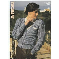 202da35a49ee8b Knitting Pattern - Patons 3169 - Lady s Double Knit Cardigan with Pocket 30- 40