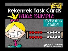 Rekenrek Task  Card BUNDLE Over 400 CardsSet-1 Show me- Ex: Show me 8, how did you show 8?Set 2 How many?- If you have 8 on the top, how many will you need on the bottom to make 12?Set 3- How many in all? If you have 3 on the top and 4 on the bottom, how many do you have in all?Set 4- Take away- If you have 4 and you take away 2 how many do you have now?Set 5- Making Ten- Number Sense Number Talks Task Cards Math Talk Kindergarten First Second