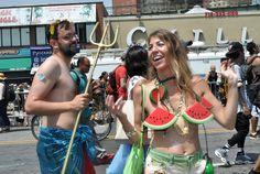 watermelon by greenelent, via Flickr Diane Greene, Mermaid Parade, Coney Island, Watermelon, Bikinis, Swimwear, People, Lent, Fashion