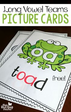 Long Vowel Teams Phonics Picture Cards {FREE} - This Reading Mama                                                                                                                                                                                 More