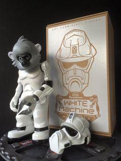 Winson Classic Creations White Machine & Black Machine Urban Vinyl Figures!