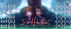 """"""" In a Heartbeat - Animated Short Film A closeted boy runs the risk of being outed by his own heart after it pops out of his chest to chase down the boy of his dreams. © Beth David and Esteban Bravo Pixar, Tommy Lee, Roald Dahl, Short Film Youtube, Stop Motion, Film 2017, I Love Cinema, Photo Images, Film D'animation"""