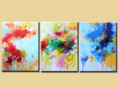 Original abstrakte Malerei  Acryl auf Leinwand  von artbyoak1