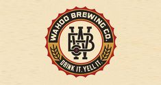 Creative Logo, Wahoo, Brewing, Company, and Beer image ideas & inspiration on Designspiration Beer Logo Design, Brewery Design, Badge Design, Business Logo Design, Branding Design, Label Design, Logo Branding, Brewery Logos, Sous Bock