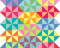 Festival of HST ~ Candy Pinwheel — Fresh Lemons Modern Quilts