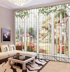modern curtains for living room painting blackout 3d curtains for living room bedroom 3d photo curtains
