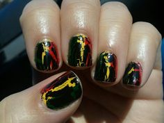 My crazy nails I painted to wear to the SOJA Concert <3