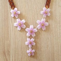 This summery Cherry Blossom Sakura necklace is a statement piece that packs a feminine punch! Laser Cutting, Cherry Blossom, Fashion Jewelry, Feminine, Charmed, Sugar, Jewellery, Women's, Jewels