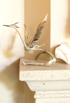 Great Blue Heron Driftwood Sculpture Lifting off for Flight by ReawakenedTreasure on Etsy