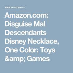 Amazon.com: Disguise Mal Descendants Disney Necklace, One Color: Toys & Games